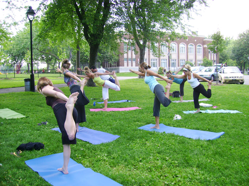 Yo yoga yoga plein air for Exterieur gym